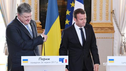 Киев рассказал о «формуле Макрона» по урегулированию конфликта в Донбассе