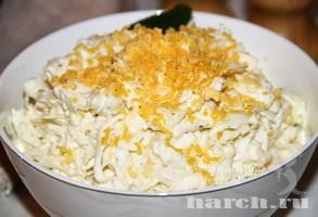 Салат из капусты с плавленым…