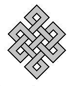 Символ гармония и успех монохром