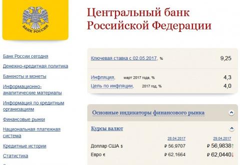 ЦБ России снизил ключевую ставку до 9,25% годовых