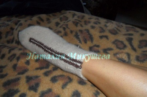 МК по вязанию носков спицами