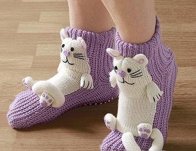 Как придать вязаным носкам т…