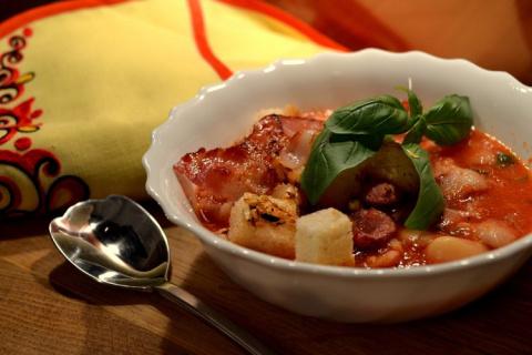 Итальянская томатная похлебка