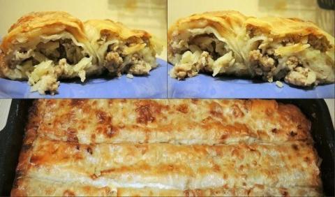 Ленивый бёрек - турецкая кухня
