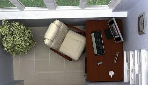 Кабинет на балконе: создаем рабочее место