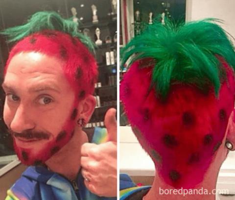Эксперименты с волосами: самые странные прически самых странных людей. До слёз!