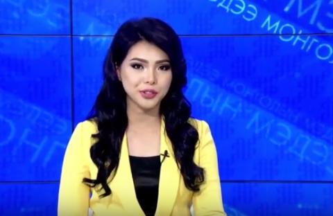 Монгольская телеведущая пора…