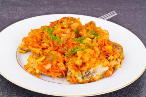 Рыба с овощами по-гречески