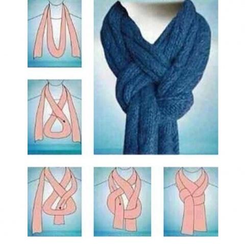 Необычный способ завязать шарфик