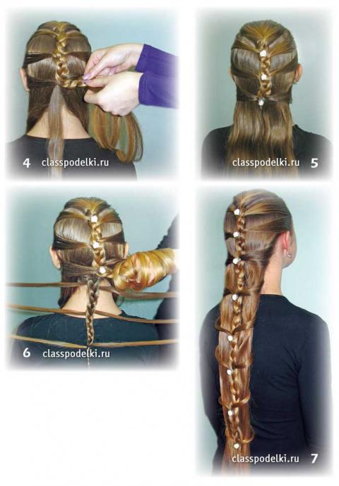Причёска для длинных и прямых волос