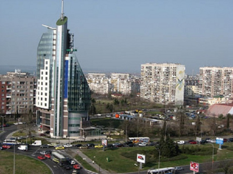 """Бургас, гостиница """"Мираж""""."""