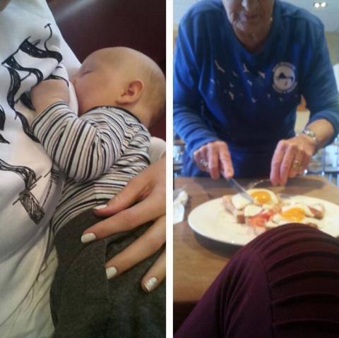 К кормящей матери в кафе под…