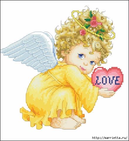 Вышивка крестом «Ангелочек» со схемой