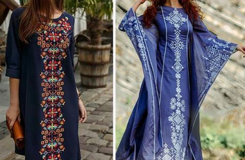 Современные платья с вышивко…