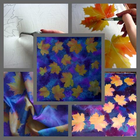 Листья желтые. МК от Виктории Игнатовой