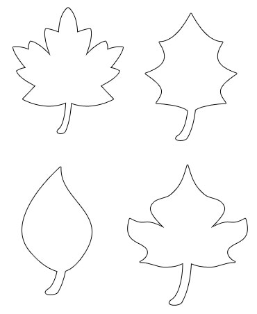 for Autumn leaf template free printables