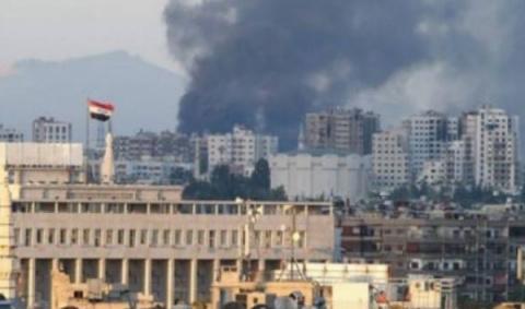 Обстрел промвыставки вДамас…