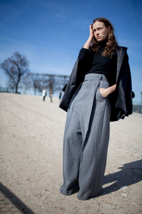 Модные тренды: широкие брюки