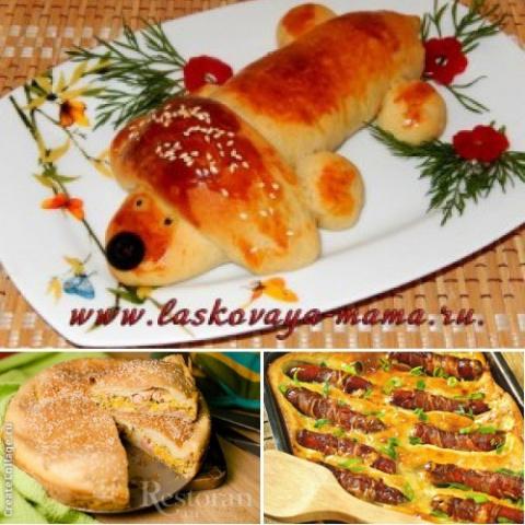 Пирог с сосисками (подборка рецептов)