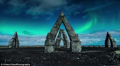Исландия в лунном свете с вы…