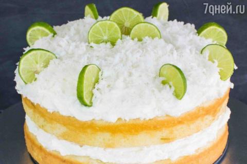 Кокосовый торт с лаймом и ро…