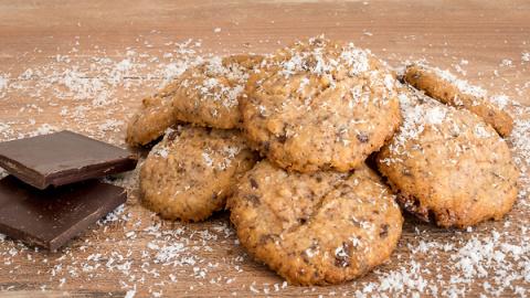 Шоколадно-кокосовое печенье:…