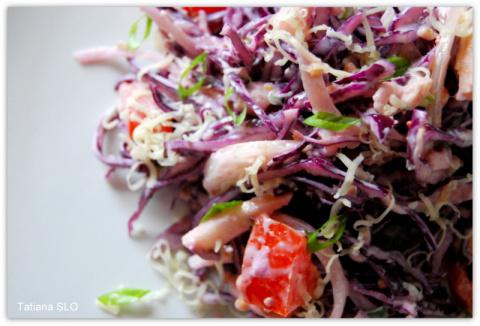 Салат из краснокочанной капу…