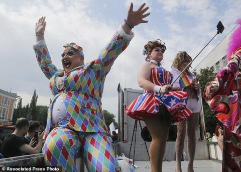 В центре Киева прошел гей-парад
