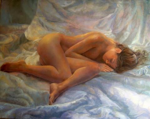 Когда художник женщину рисует...