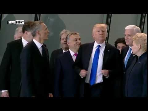 Трамп на саммите НАТО вытолкнул премьера Черногории из первого ряда