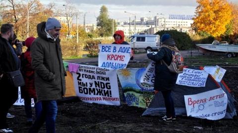 Обманутые дольщики вышли на митинг в Петербурге