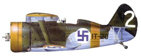 И-153 IT-20 из состава LeLv6 Финских ВВС в июле 1942 года