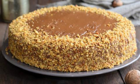 Ореховый торт с вареной сгущ…