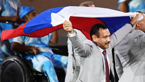 IPC выгнал с Паралимпиады белоруса, пронесшего российский флаг на открытии