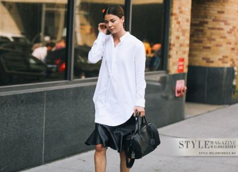 12 актуальных примеров, как носить платье-рубашку в этом сезоне