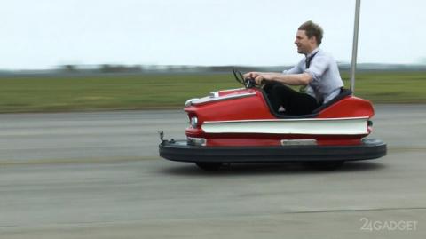 Аттракционный автомобиль разогнали до 100 миль в час