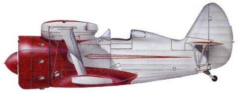 Первый опытный И-153, 1938 год