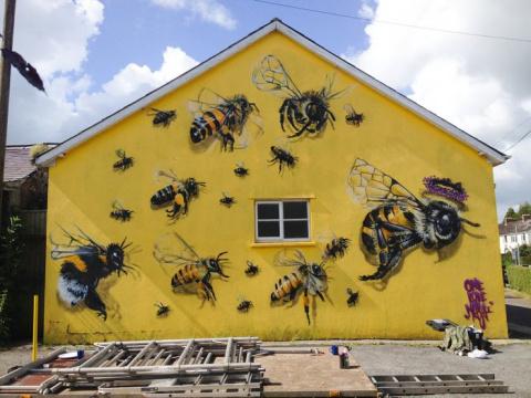 Спасение пчел посредством стрит-арта