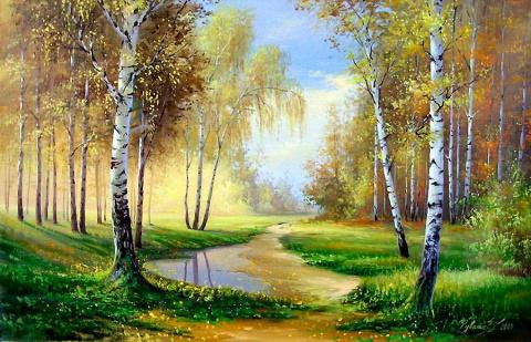 Край родной, художник Олег Чувашев