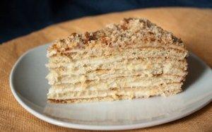 Тортик на сковороде со сгущенкой