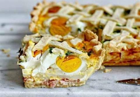 Пирог с картофелем, яйцами и…