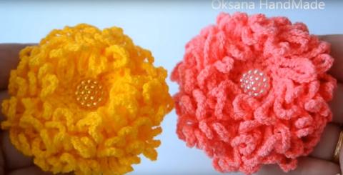 Цветы крючком. Видео МК