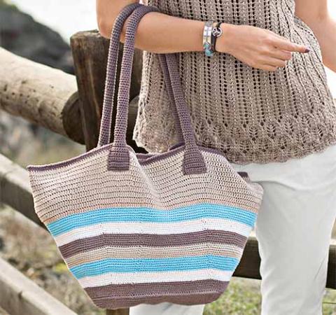 Широкая пляжная сумка