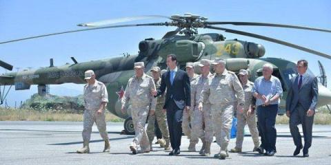 Башар Асад посетил базу ВКС …