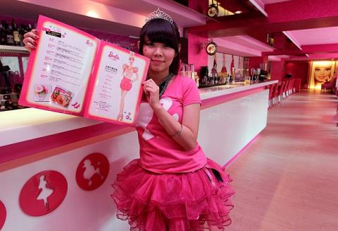 На Тайване открылось барби-кафе