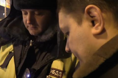 Наткнулся белорус на ГИБДД в Москве
