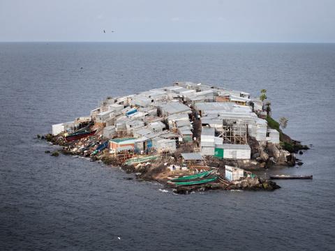 Самый густонаселенный остров…