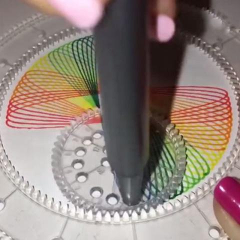 Spirograph Rainbow