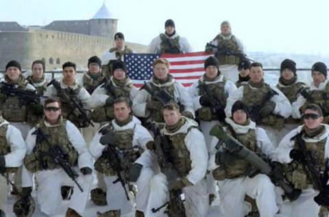 На границе с Россией в Эстонии развернули американский флаг
