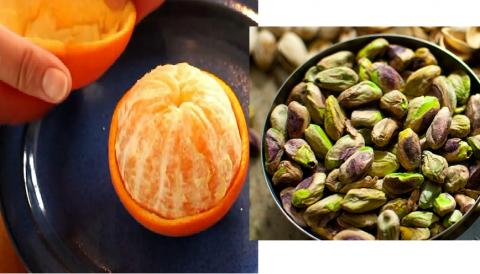 Лайфхак: как грамотно почистить апельсин и фисташки